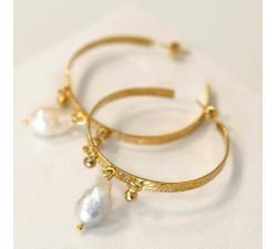 Duże kolczyki koła Baroque Pearl