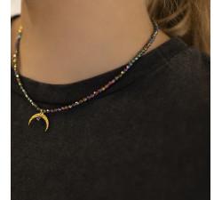Kolia z księżycem opalizujące kamienie Sailor Moon