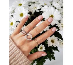 Srebrny pierścionek obrączka podwójna