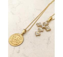 Złoty naszyjnik znak zodiaku RYBY