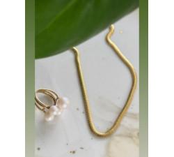 Łańcuszek żmijka płaska srebro 925 Snake