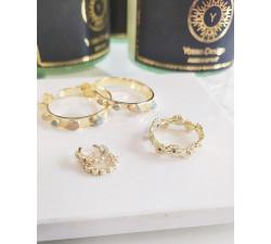Korona pierścionek stokrotek - obrączka Daisy