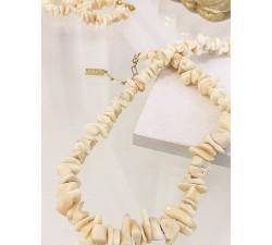 Naszyjnik koral naturalny - Coral Beige