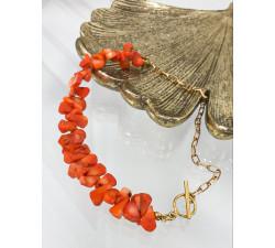 Naszyjnik koral naturalny - OrangeSun