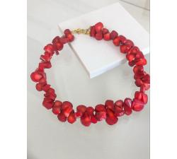 Krótki naszyjnik - czerwone korale VeryBerry