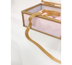 Łańcuszek, naszyjnik typu taśma, płaska szeroka żmijka
