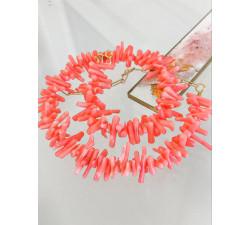 "Krótka kolia koral ""kwiat morza""- Coral Pink"