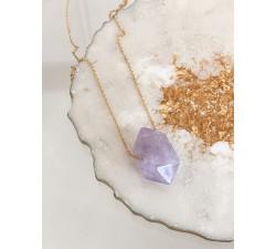Naszyjnik z kamieniem AMETYST naturalny talizman