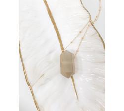 Łańcuszek z zawieszką KAMIEŃ KSIĘŻYCOWY talizman ochronny