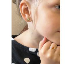 Kolczyki dla dziewczynki, pszczółki pozłacane, biżuteria dla dzieci,
