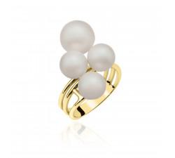 Pierścionek z perłami Swarovskiego