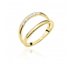 Złoty pierścionek obrączka podwójna