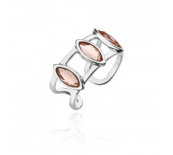 Srebrny sygnet z kryształami Swarovskiego