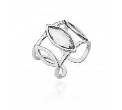 Srebrny sygnet z kryształem Swarovwskiego
