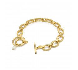 Choker łańcuszek srebro pozłacane - dwie bransoletki