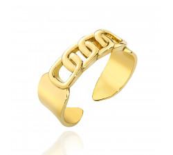 Regulowany pierścionek pancerka - srebro 925