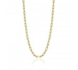 Krótki łańcuch kolia - złocone srebro